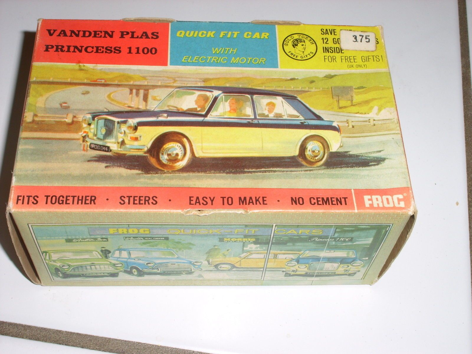 Vanden Plas Princess 1100 model kit with electric motor by Frog. I need one of these! #BritishCar