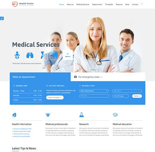 15+ Best Medical WordPress Themes for Dentists  Hospitals (2018