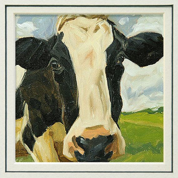 Cow print from an original animal painting in by FinnellFineArt, $15.00 #ibhandmade