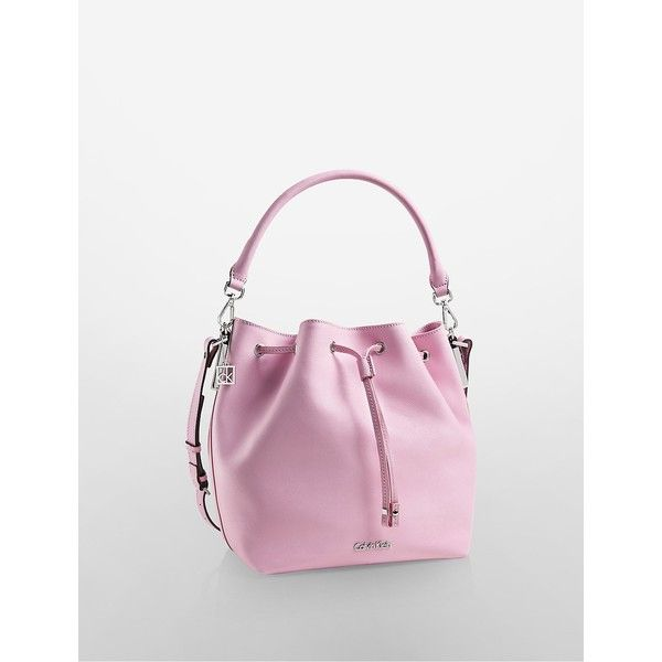 4d89939987ba Calvin Klein Women s Scarlett Convertible Drawstring Bucket Bag ( 50) ❤  liked on Polyvore featuring bags
