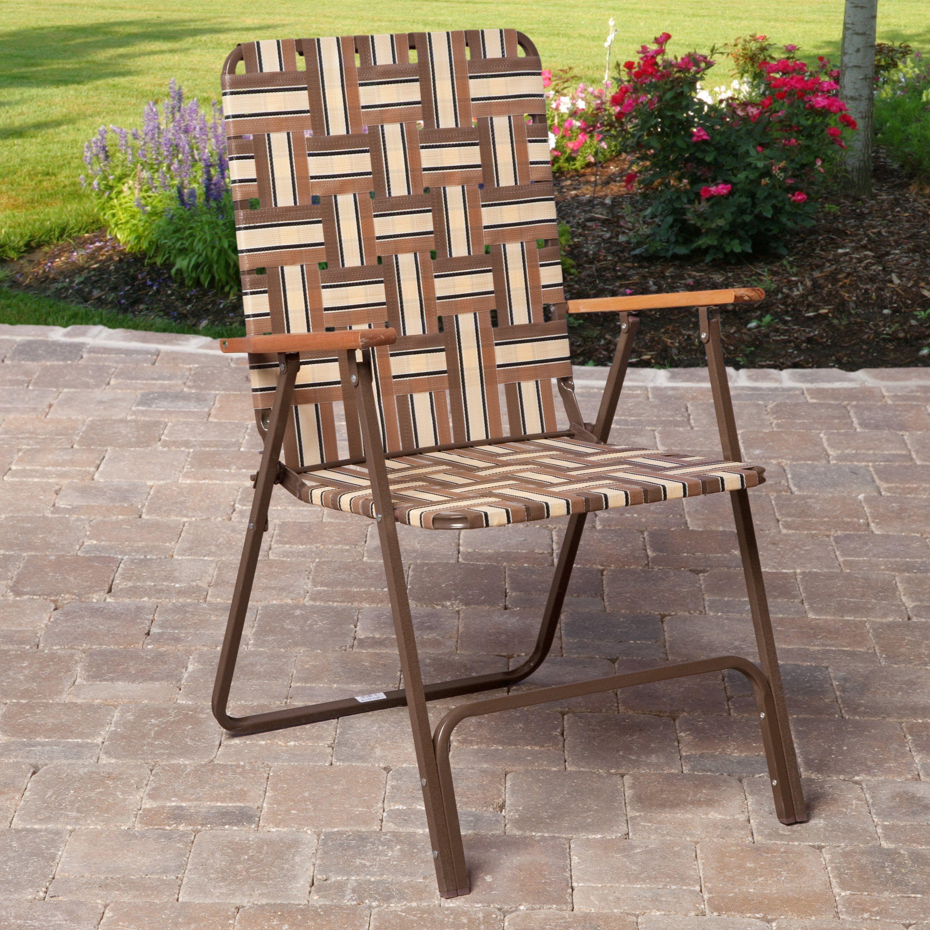 Charmant Webbed Lawn Chairs Folding Aluminum