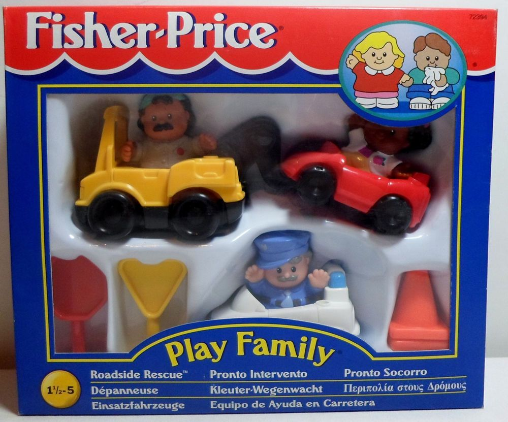 Little people car toys  Fisher price  little people play family roadside rescue set
