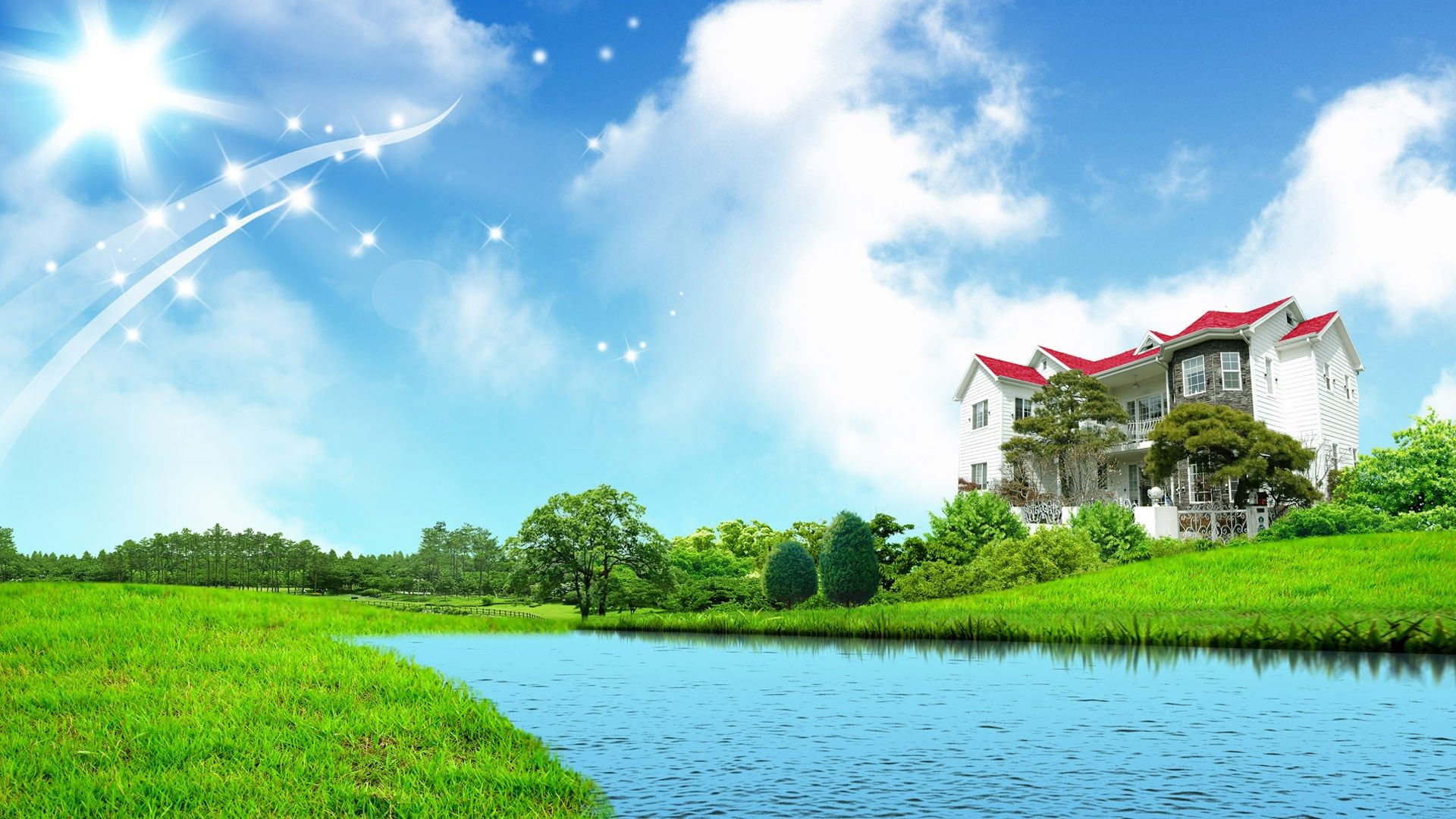 Sweet Home Fantasy Green Nature Wallpapers Hd 1080p 1920x1080 Desktop