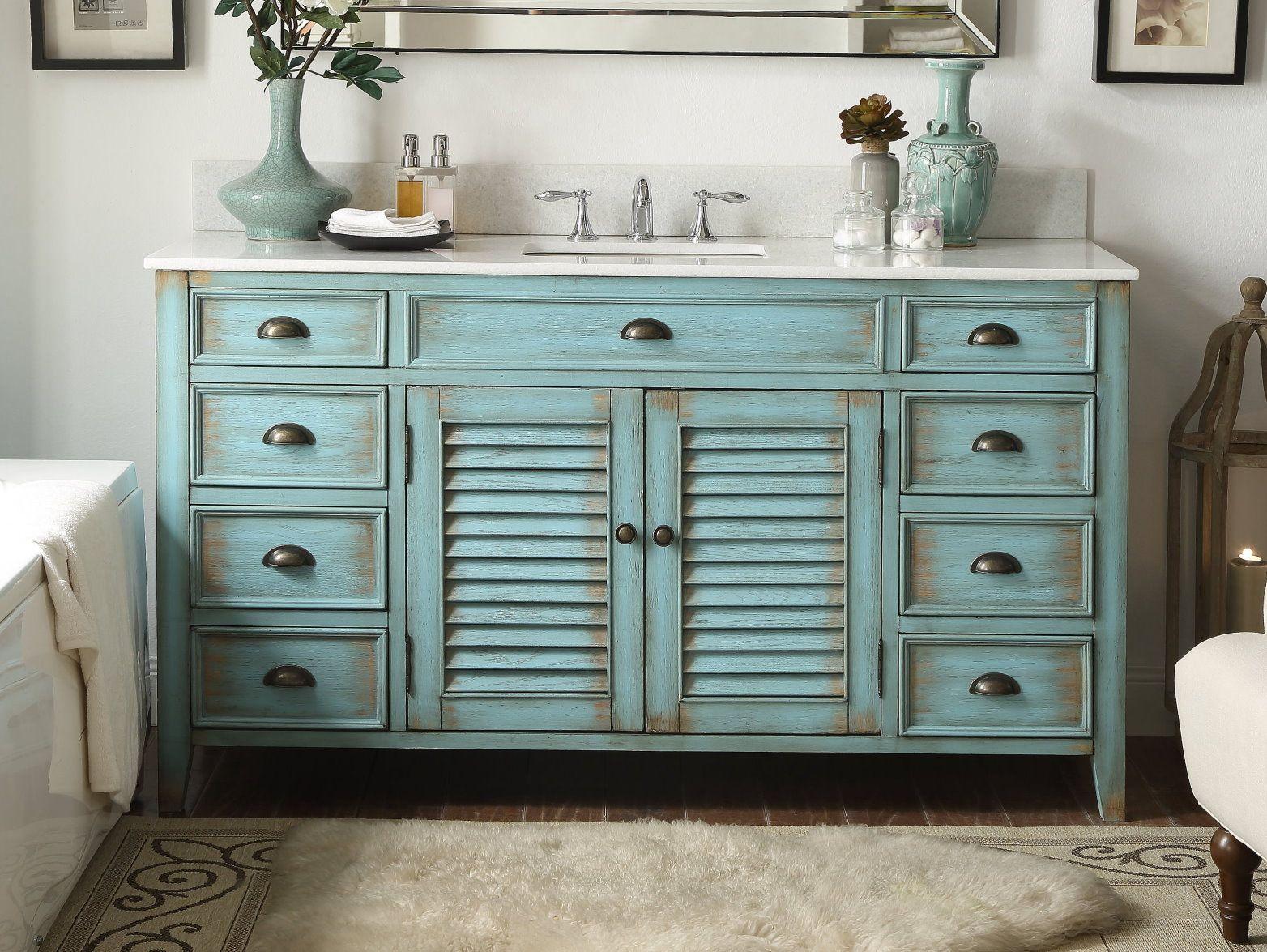 60 Single Sink Abbeville Bathroom Sink Vanity Cf 66323bu 60