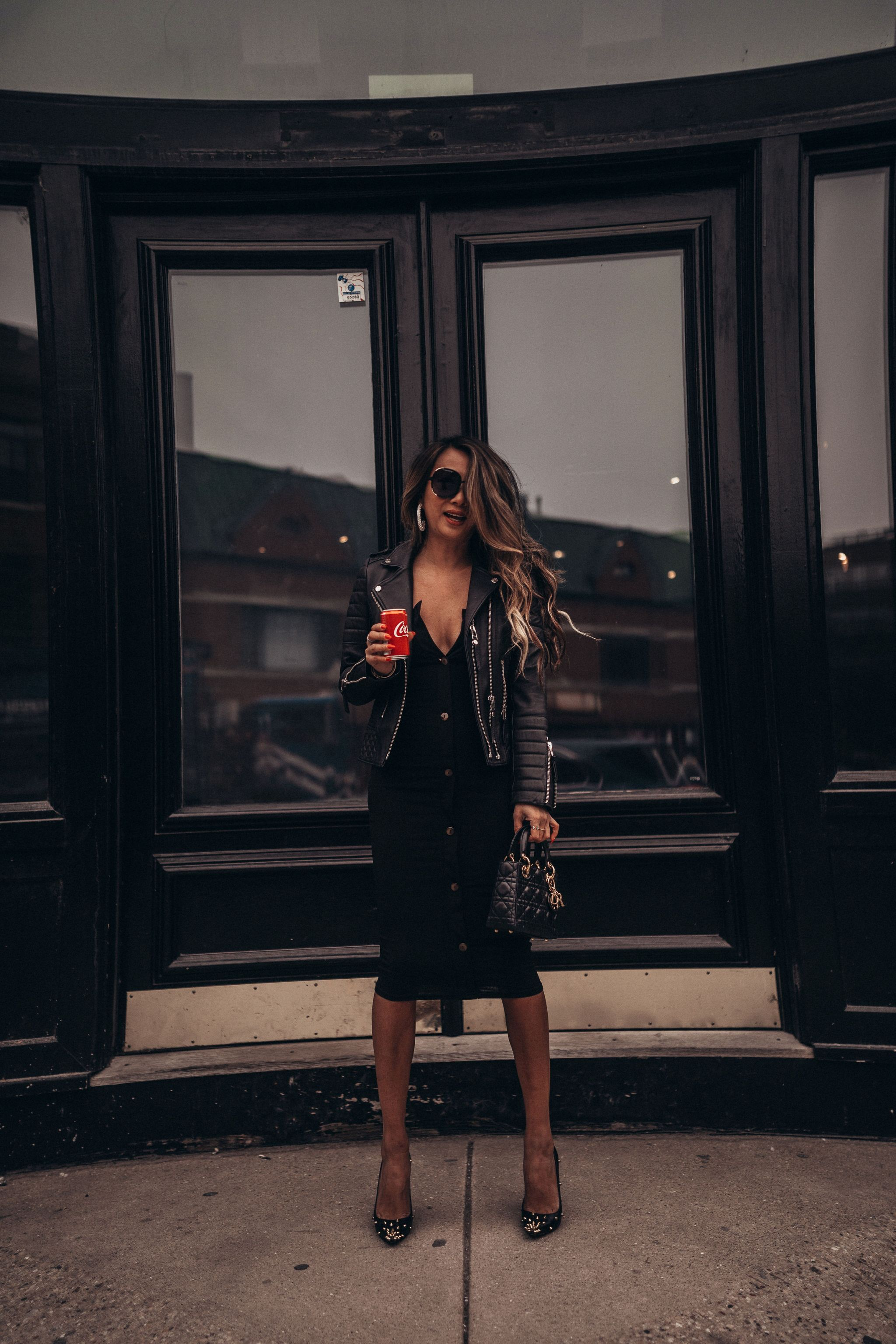 3 Ways To Style Your Little Black Dress Red Soles And Red Wine Black Dress Jacket Leather Dress Outfit Black Date Night Outfit [ 3072 x 2048 Pixel ]