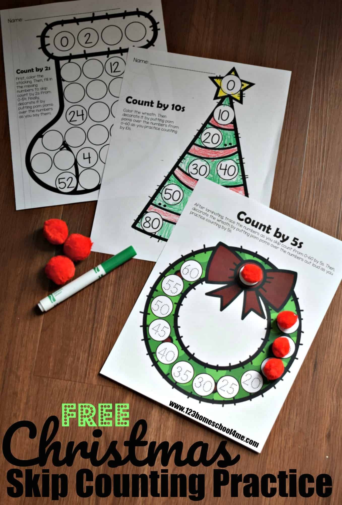 Free Christmas Skip Counting Activity With Images