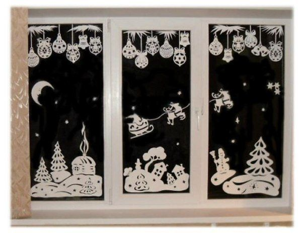 window paper decoration paper cutting for christmas1 in window decoration christmas - Christmas Window Decorations