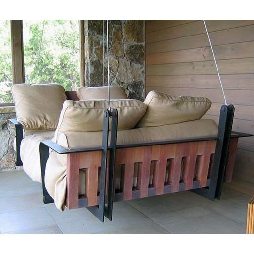 SBO Manhattan Industrial Style Hanging Daybed Swing - MANH I like the idea of this hanging bed!