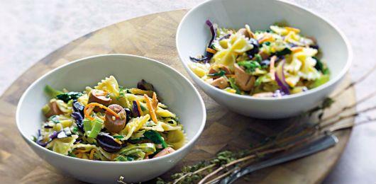 Salada de cogumelos frescos