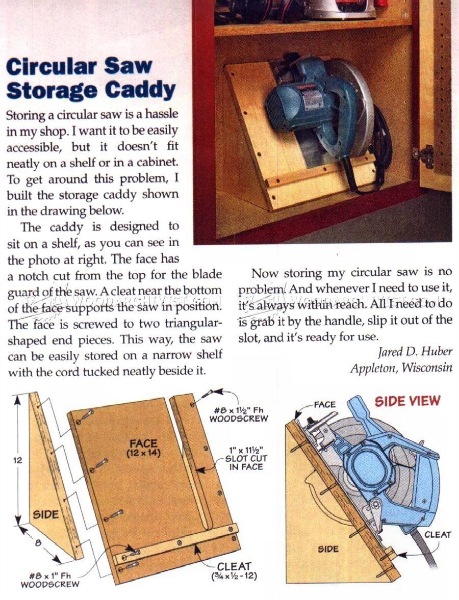 image of #109 Circular Saw Storage Caddy