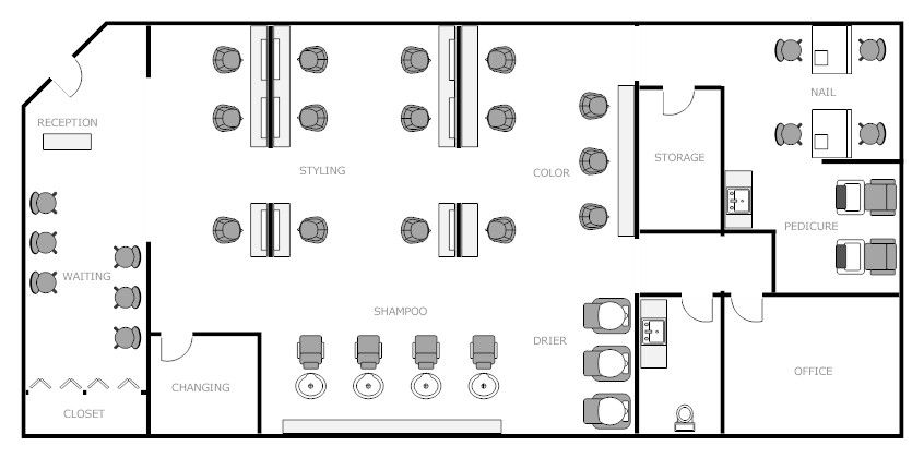 Salon Floor Plan 2 Nails And Hair Studio Pinterest