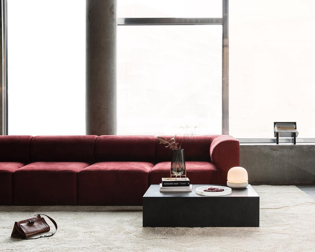 inspired by architecture eave modular sofa takes its name from rh pinterest it