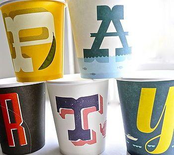 Alphabet Paper Plates And Cups  sc 1 st  Pinterest & Alphabet Paper Plates And Cups | Typography