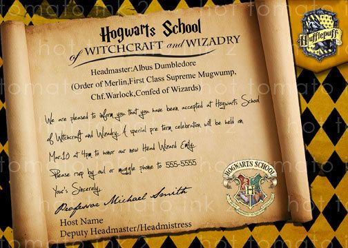 Harry Potter Party Invitations Craftbnb - Birthday invitations harry potter printable