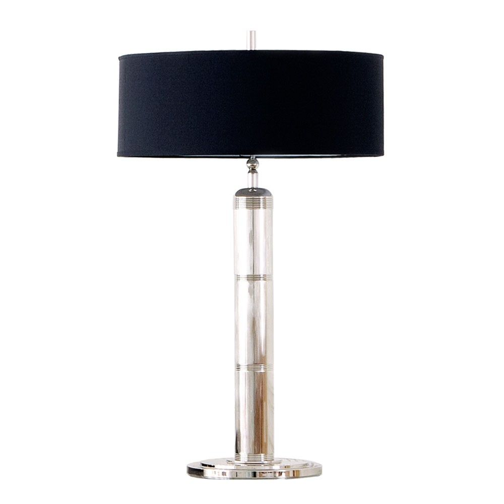 Table lamps black shades longacre tall table lamp in table lamps black shades longacre tall table lamp in polished nickel with black silk shade aloadofball Gallery