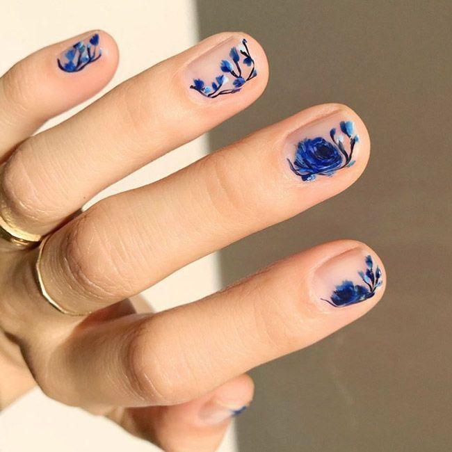 Best Floral Nail Art Designs For Short Nails Best Nail Polish Designs For Short Nails Floral Nail Designs Floral Nail Art Spring Nail Art