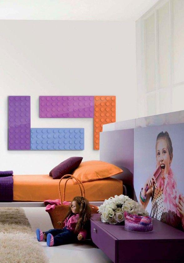 Lego-style designer radiator for kids room