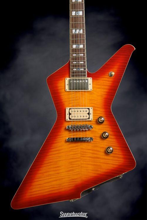 ibanez destroyer dt520fm cherry red sunburst vintage guitar amplification ibanez guitar. Black Bedroom Furniture Sets. Home Design Ideas