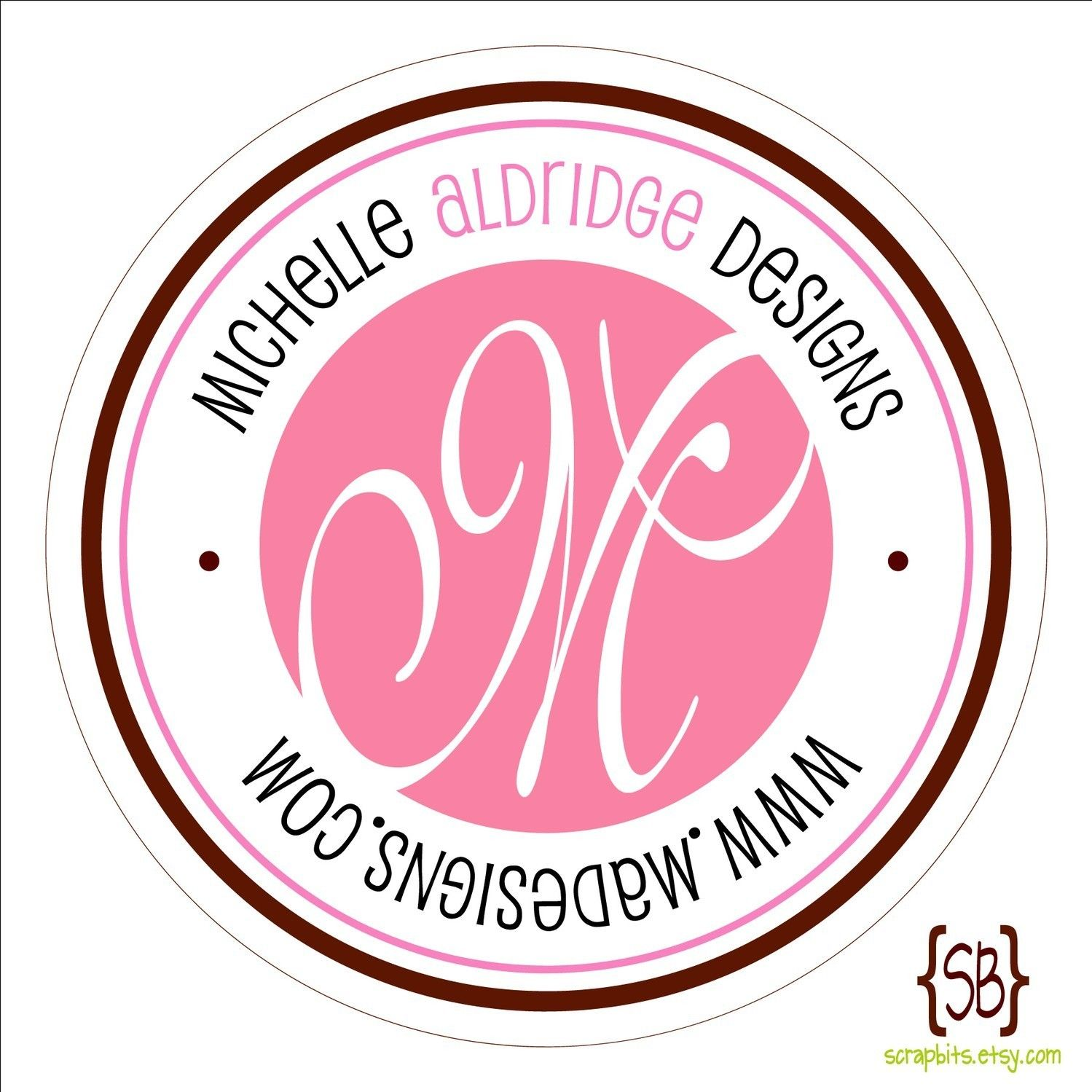 Double Outline Personalized Monogram Stickers or Tags | Round ...