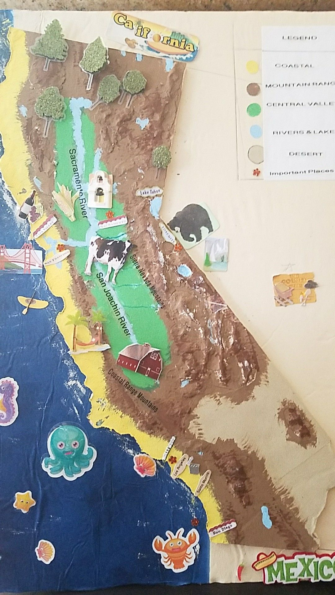 California Relief Map 4th grade project. Supplies from Michael's and on