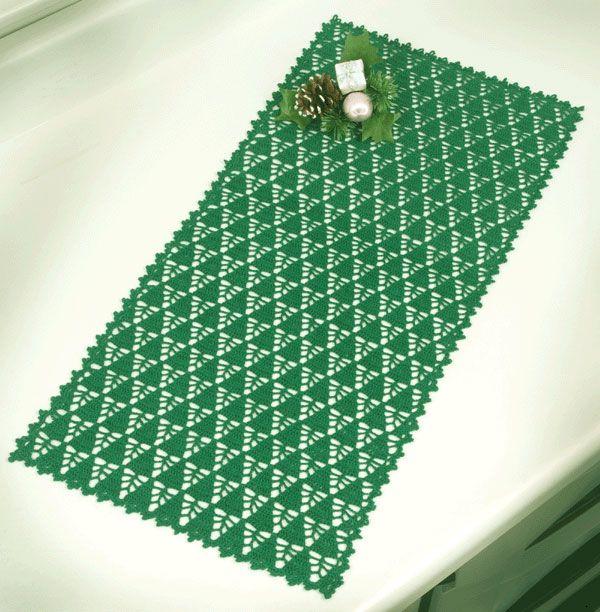 Tapete De Croche Arvores De Natal Caminho De Mesa De Croche
