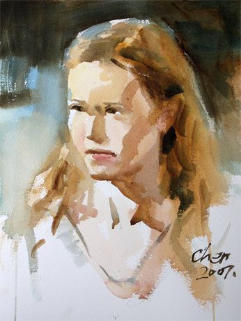 Watercolor Portrait Painting By Yong Chen A 20 Minute Portrait