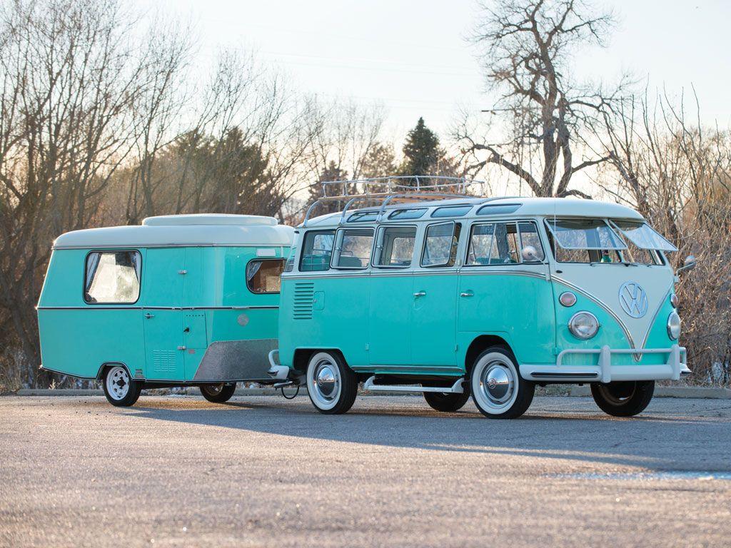1963 volkswagen type 2 23 window super deluxe microbus with eriba puck