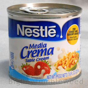 NESTLE Media Creme table cream 7.6 oz can cooking food pasta ice creamy dessert #BigBoyTumbleweed