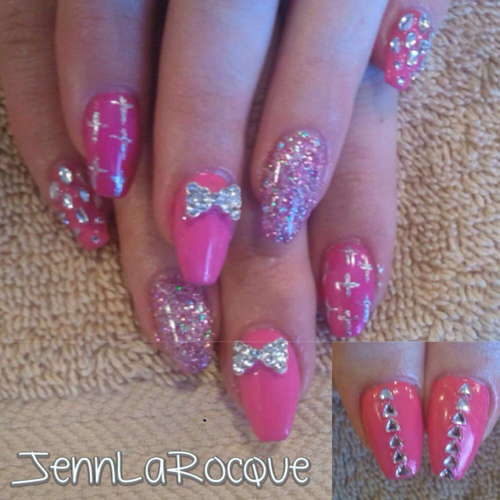 bre's gel nails shellac bling