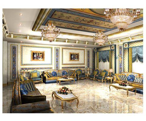 ديكورات فخمة مجالس ملكية Interior Design Gallery Wall Design