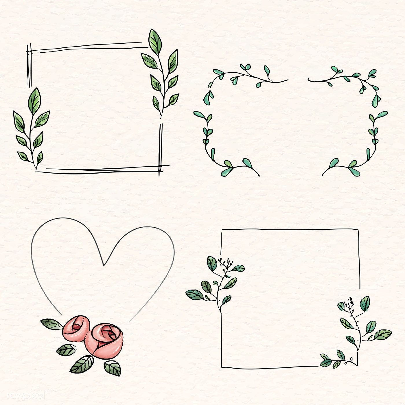 Photo of Download the premium vector doodle floral wreath vector collection 843842, …