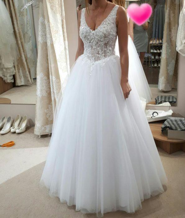 fc456e3147 Sprzedam suknie ślubną rozmiar 34 36
