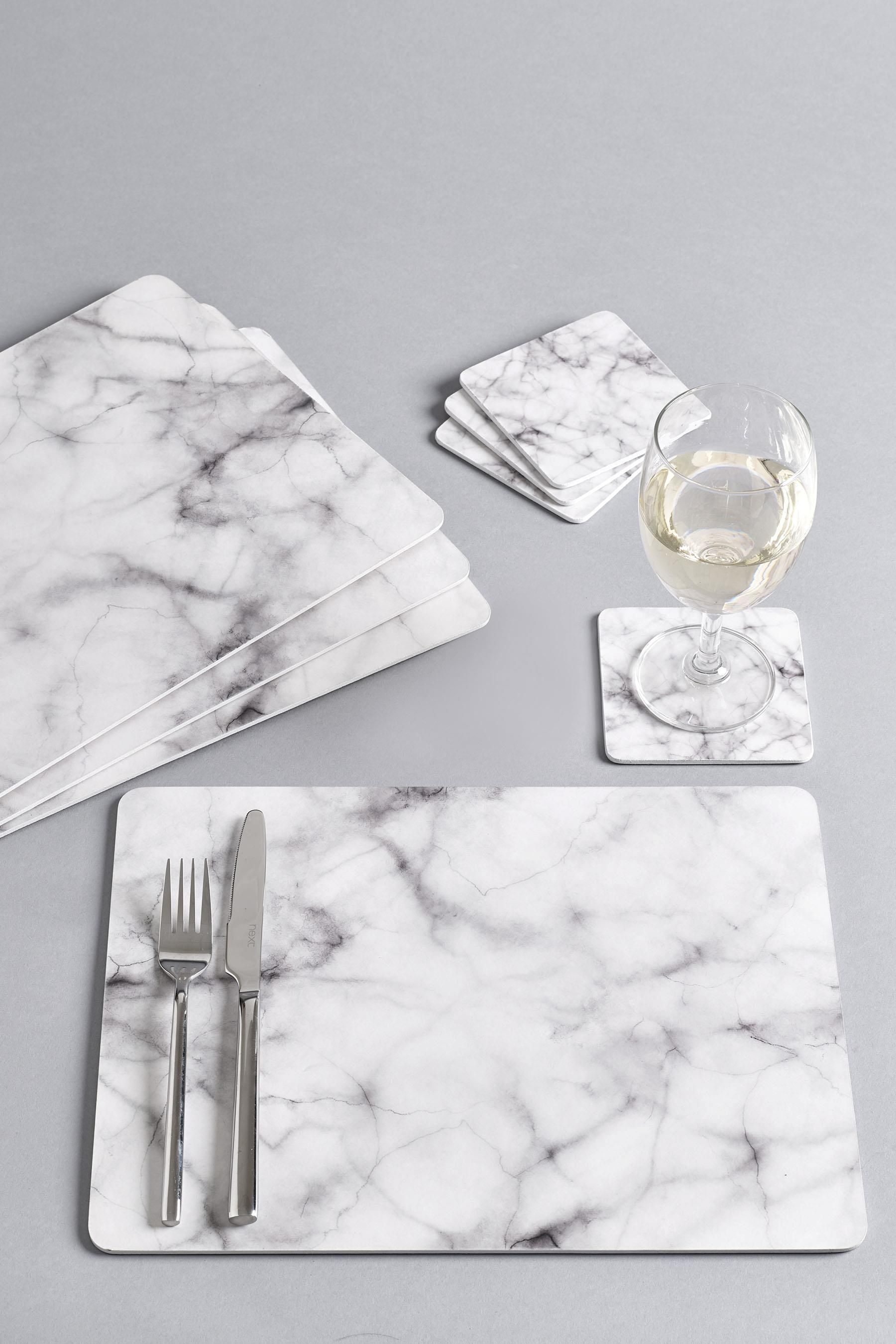 Buy Set Of 8 Marble Effect Placemats And Coasters From The Next Uk Online Shop Kitchen Accessories Decor Marble Decor Kitchen Marble