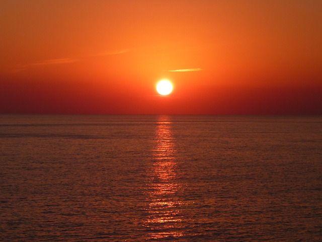 Gratis afbeelding op Pixabay - Zon, Zonsondergang, Zee, Water