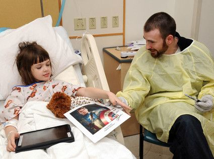 Image result for chris evans hospital kids