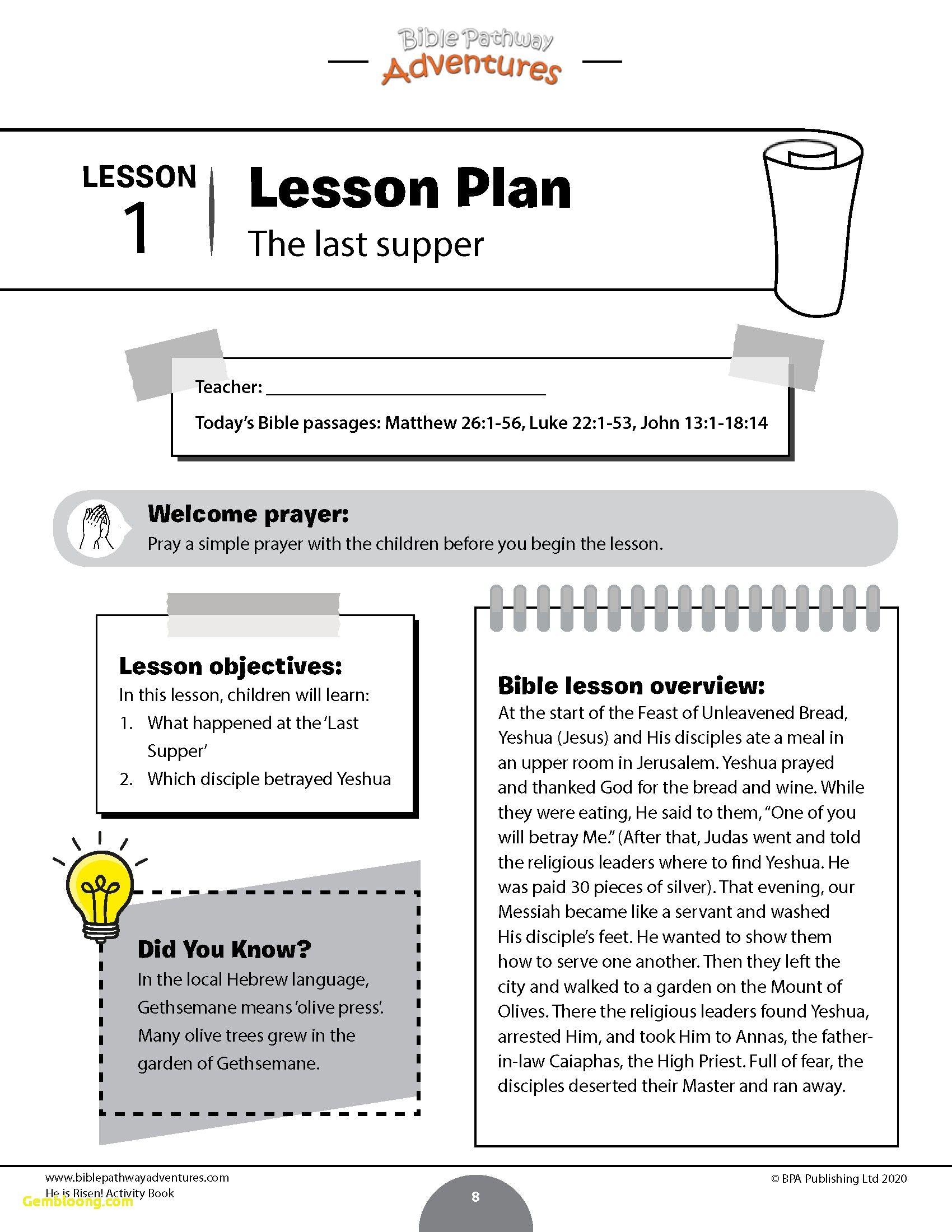 Official Lent Worksheets Activities Worksheet Printable
