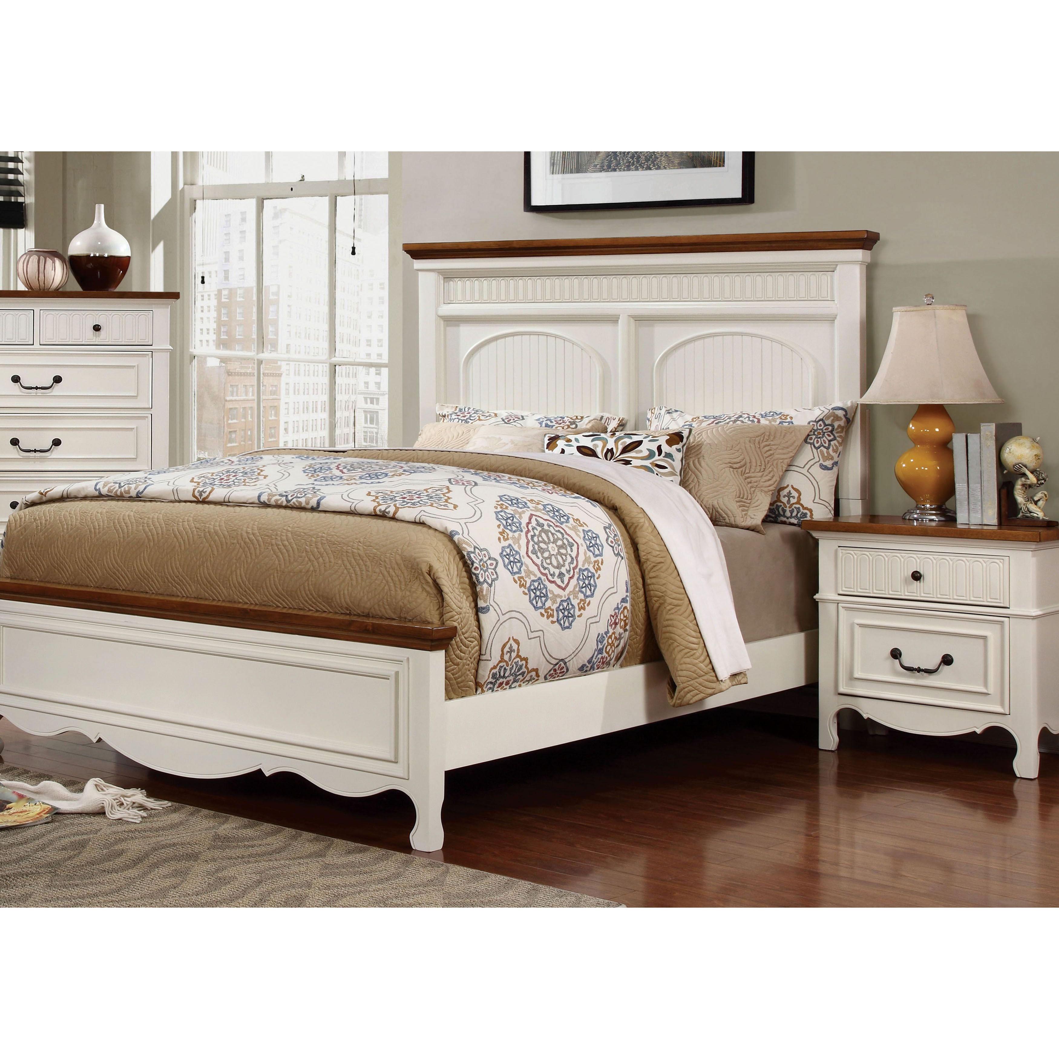 Best This Sweet And Simple Platform Bed And Nightstand Set Is 400 x 300