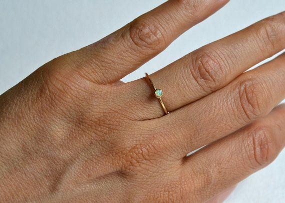 Gold Opal Ring, Gold Filled Opal Ring, Opal Ring Gold, White Opal ...