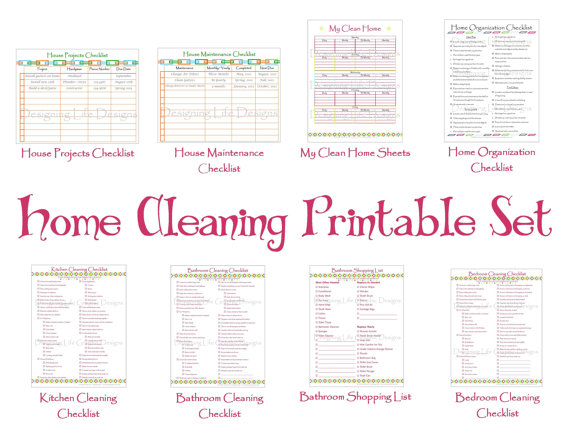 This ETSY shop is awesome Cleaning Schedule Printable Set - Keep - sample cleaning schedule template