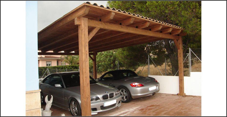 Garajes De Madera A Medida Incofusta Pérgola Para Garaje Techo Para Cochera Diseños De Cochera