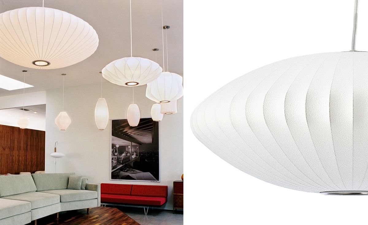 George Nelson Saucer Bubble Lamp Produced By Herman Miller