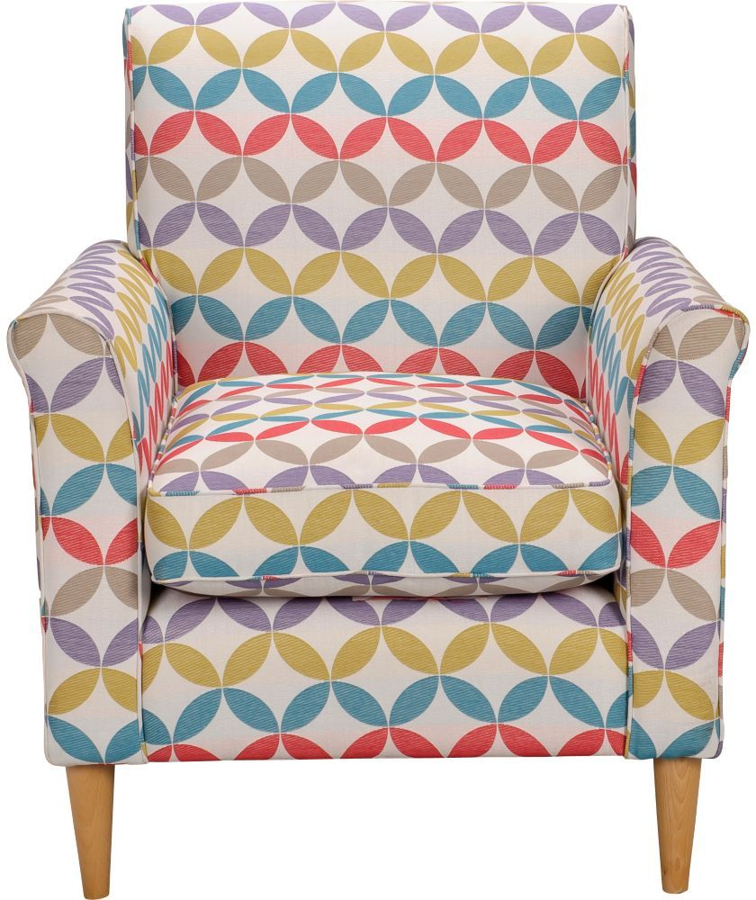 buy geometric print chair multicoloured at argos co uk your