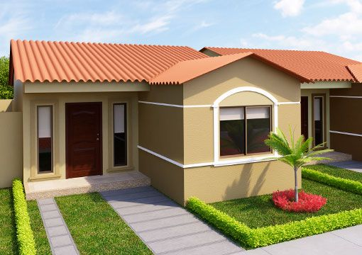 Fachadas De Casas Pequenas Rusticas Sencillas Casas Pequenas Colores Fachadas De Casas Casas Coloridas