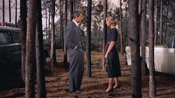 Cary Grant ( Roger O. Thornhill) y Eva Marie Saint ( Eve Kendall)
