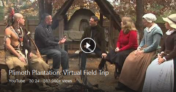 Thanksgiving virtual field trip featuring Pilgrims and the