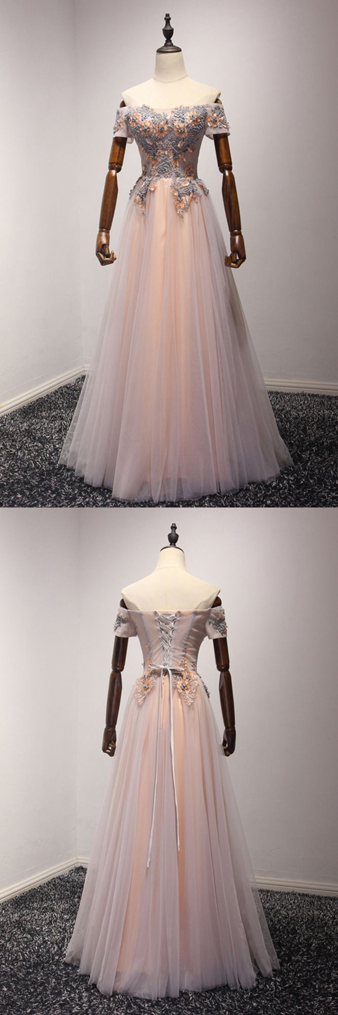 Unique beading long prom dress for junior girls country style