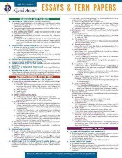 Attrayant Essays And Term Papers: REA Fast Facts Review Quick Access Reference Chart