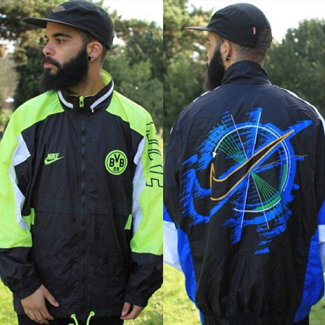 We've just dropped X3 LETHAL #nike jackets, #dortmund Nike on the left, Mad Nike tick jacket on the right, which one is your vibe?! These two will be shooting off site quick so get them while you can!!! RARE Nikes in the mix!  #gullygarms #christmas #asosmarketplace #lastminutecop #staygully