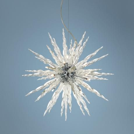 Nice Possini Euro Design Glass Icicle Pendant Light (R6578) Photo Gallery