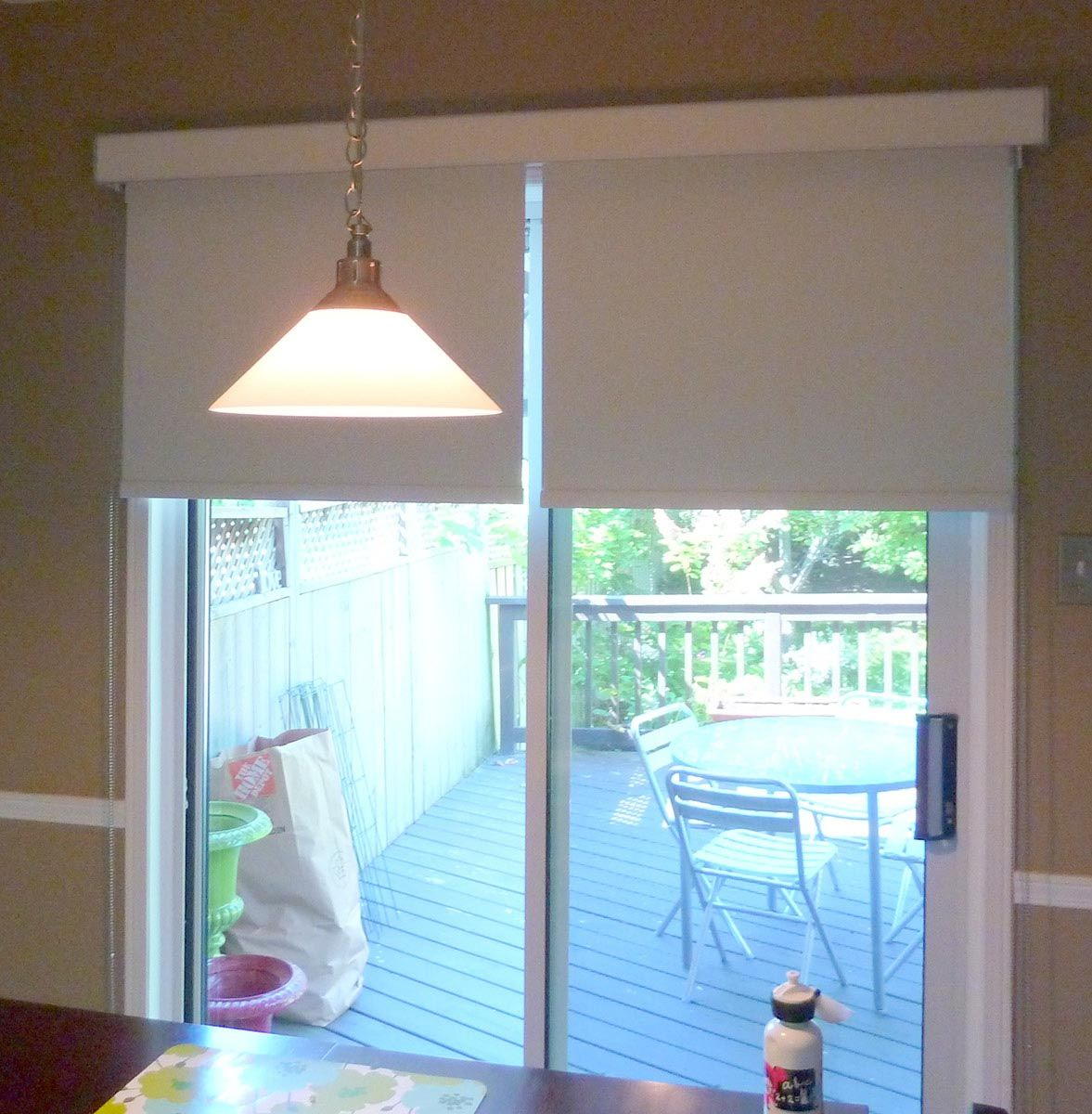 Roller Shades For Patio Doors Window Shades Pinterest